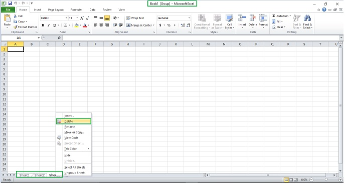 How to Delete Multiple Worksheets in Excel | KnowledgeSpot